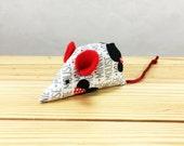 Minnie Mouse Fabric catnip Cat Toy, Valentines Day Cat toy, kitten toy, red white black