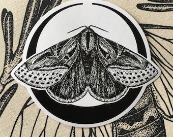 Moon Moth Vinyl Sticker