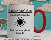 Veterinarian gift for veterinary, mug , veterinary gift for veterinarian mug, vet mug, vet nurse mug, vet mug funny, personalized E1165