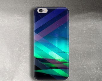Aurora Borealis case for iPhone 6 Case for iPhone 6 Plus Case slim for iPhone 6s Case blue green for Samsung Galaxy S8 Northern lights case
