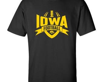Iowa Hawkeyes Football Rush T-Shirt - Black