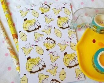A6 Lil Banana Pocket Notebook | Precious Bbyz Kawaii Banana Notebook for school, work, and more!