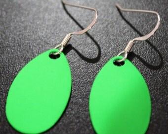 Green Spinner Blade Earrings