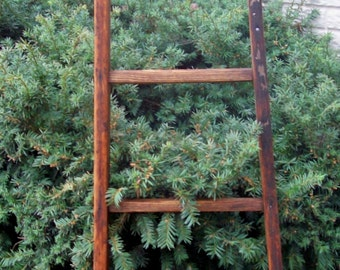 Authentic Orchard ladder Finished  - Ready to Ship  6 ft. square rungs Rare