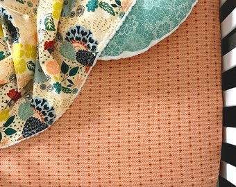 Baby Bedding Girl - Tangerine - Baby Bedding - Floral