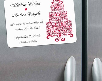 All Tiered Up - Magnet - Save the Date + Envelopes