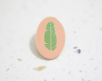 Banana Leaf Enamel Pin // Hard Enamel - Enamel Pin - Pin - Lapel Pin - Flair - Brooch - Collar Pin - Hat Pin - By Justine Gilbuena