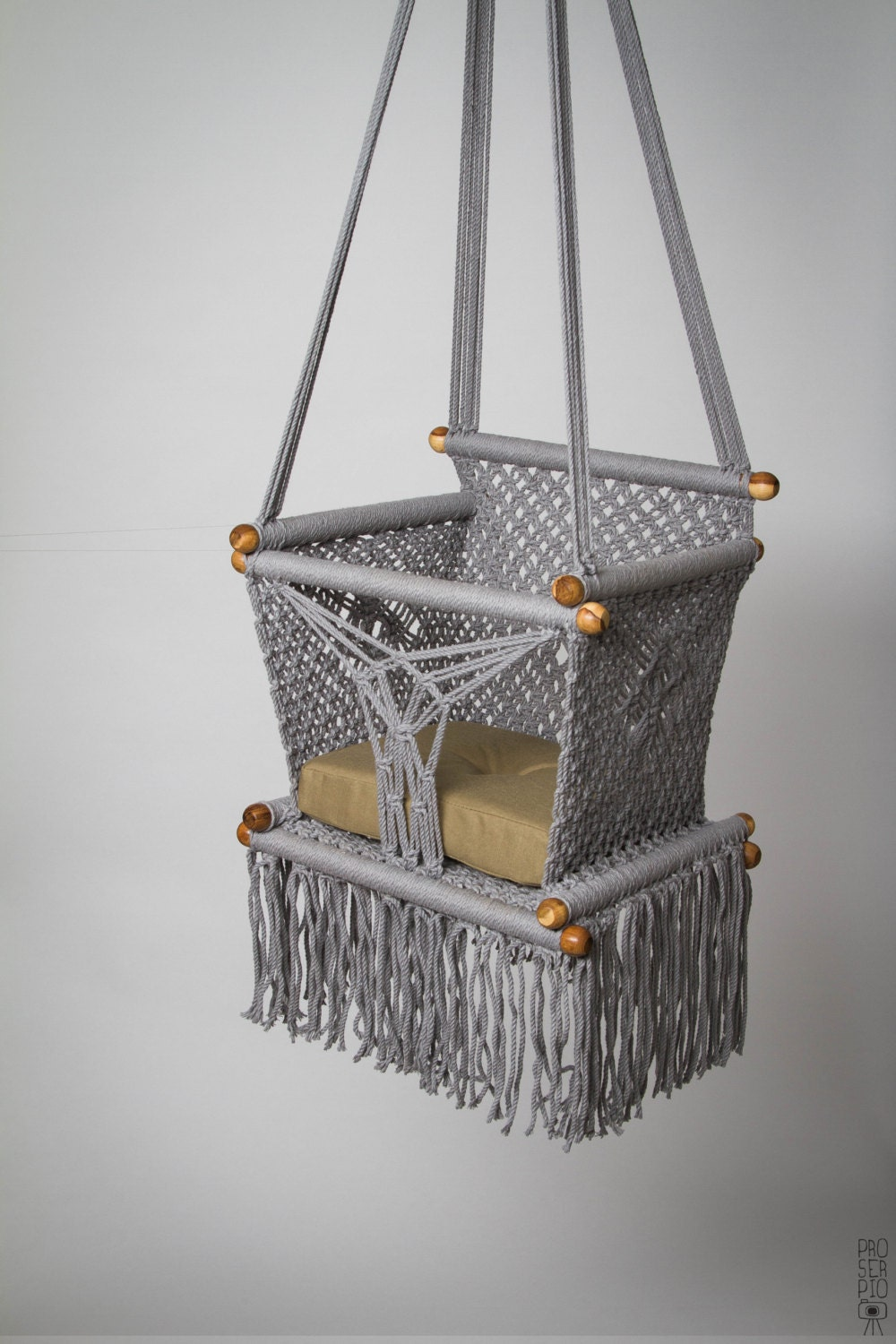 baby swing chair 14 in macrame preorder 1 year