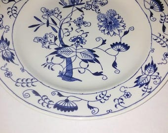 Royal China.Dinner Plates.Doorn Blue Onion Pattern.1955.