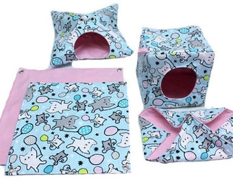 Rat Hammock Set ~ 5 pc ~ you choose fabrics!
