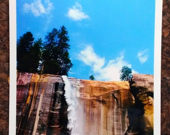 Landscape Photography-Yosemite National Park-Vernal Fall in Summer