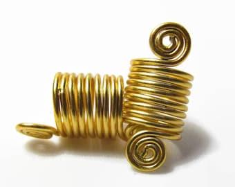 Loc Jewelry Hair Accessories, Loc Beads, Dread Bead, Loc Accessories, Loc Cuff, Gold Dread Cuff, Dreadlock Bead, Natural Hair Jewelry