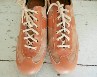 Vintage,  Dexter. Leather and Suede, Brogue, Size 10 1/2 M, Men's Shoes, Made in USA