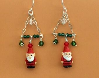Christmas Gnome Tree Earrings