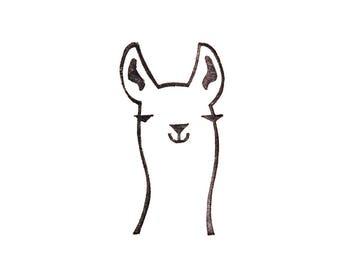 Llama stamp, llama gift, Peru animal, Lama glama, peekaboo stamp, rubber stamp, stamp for diy, llama kids gift, funny stationery
