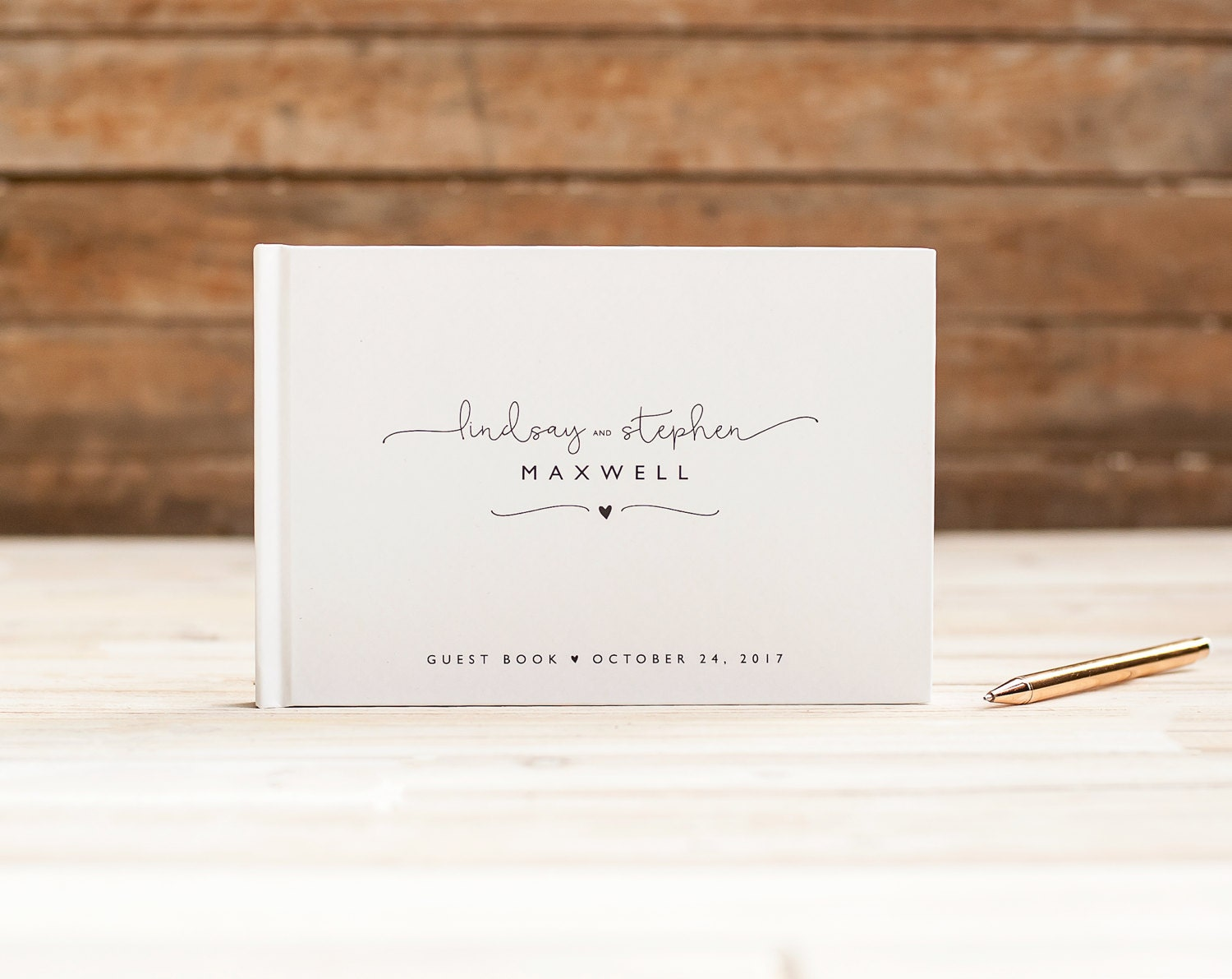 Wedding Guest Book Landscape Guestbook Horizontal