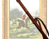 Vintage Riding Crop, Horse Crop, 1940'S, English Riding Crop, Leather Wrapped, Horse Race, Horse Decor, Collectible, Fox and Hounds, Hunting