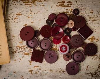 Burgundy button set vintage sewing button assorted button bulk square vintage buttons coat button dark red button coat button jacket button