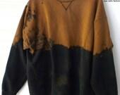 Sweatshirt, Black sweatshirt, Crewneck Sweatshirt, grunge, acid wash sweatshirt, Boho, Hipster, Sweater, Grunge, XLarge sweatshirt