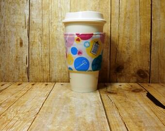 Fabric Coffee Cozy / Nurse Coffee Cozy / Doctor Coffee Cozy / Coffee Cozy / Tea Cozy
