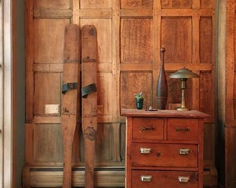 Antique Wood Skis, Primitive Handmade Wooden Skis, Rustic Cabin Decor, Lodge Decor