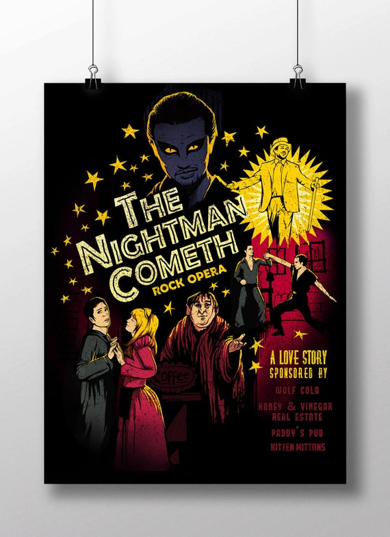 "The Nightman Cometh - ""It's Always Sunny in Philadelphia"" artwork - signed poster - 11x17"