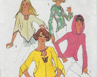 """Simplicity 6656  Juniors' And Misses' Jiffy Pullover Top  Size 14 Bust 36""""  UNCUT"""