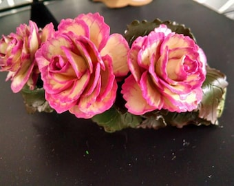 Wax Begonias hair clip