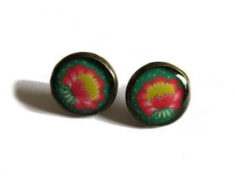 LOTUS flower earrings, tiny lotus, lotus stud earrings, YOGA earrings, Yoga jewelry, Gift for yogi, yoga lover, Zen jewelry