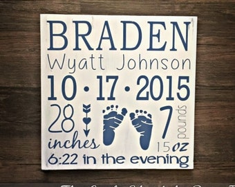 Custom Birth Announcement, Baby Announcement Sign, Birth Stats Sign, Birth Announcement Sign, New Baby Gift, Nursery Decor, Newborn Gift