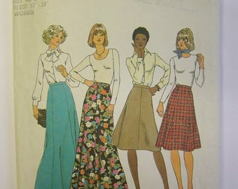 "VINTAGE Plus size 1970s Simplicity 7308 Women's SKIRTS Pattern sz 40 and 42 - waist 37 - 39"" COMPLETE"