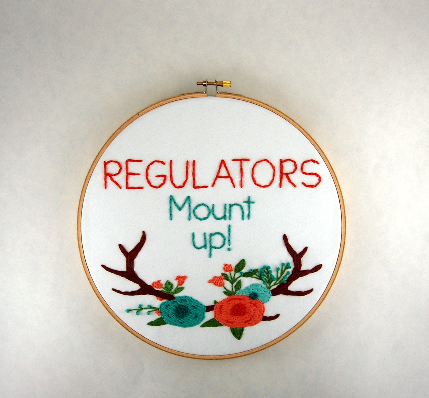 Regulators Mount Up Embroidered Hoop Art 9 inch Warren G