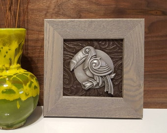 Unique Sculpted and Framed Animal Dials (Toucan)