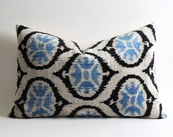 velvet pillow cover, pillow covers, ikat velvet pillow, pillows, sofa pillows, designer pillows, velvet pillows, pillow case, 16x24 pillow