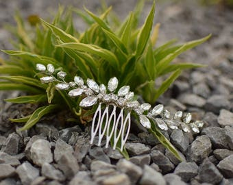 Wedding hair vine Bridal hair comb Hair accessories for wedding rhinestone hair piece. head piece wedding hair pieces. Rhinestone hair vine