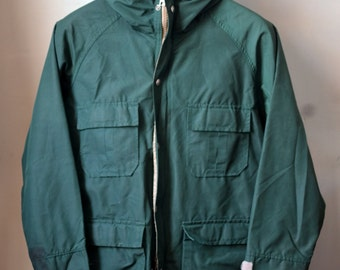 ICONIC Vtg. 60s LLBEAN Script Label Green Baxter State Parka Size S/M Small Medium Unlined Mountain Parka Rugged Ivy