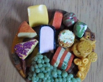 Barbie Sindy doll accessories  lunch food, snack, party food, cheeseboard