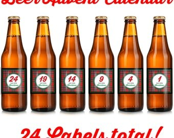 Christmas Beer Labels - Holiday Beer Label - Advent Beer - Advent Beer Calendar - Advent Calendar