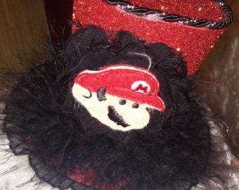 Super Mario inspired mini top hat