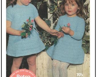 Toddlers Dress Knitting Pattern - PDF Knitting Pattern - Instant Download