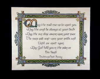 Irish Blessing - May the Road Rise To Meet You - Celtic Knot Art