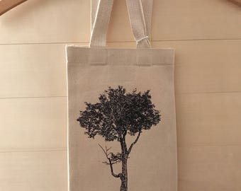 Tree Wine Bag Recycled Cotton Canvas Tote