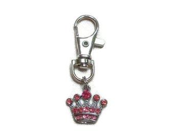 Pink Rhinestone Dog Collar Charm
