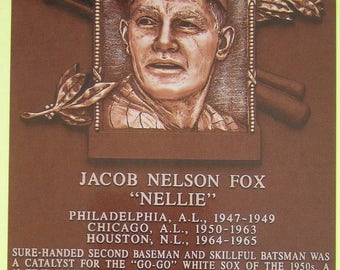 Jacob Nelson Fox Chicago White Sox HOF Hall of Fame Plaque Cooperstown Postcard - Free Shipping