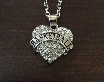 basketball necklace, basketball, silver basketball necklace, basketball pendant, basketball jewelry, basketball jewlery, white necklace