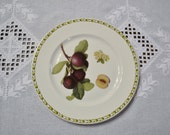 RESERVED Vintage Queens Hookers Fruit Salad Dessert Plate Plum Blossom Royal Horticultural Society England PanchosPorch