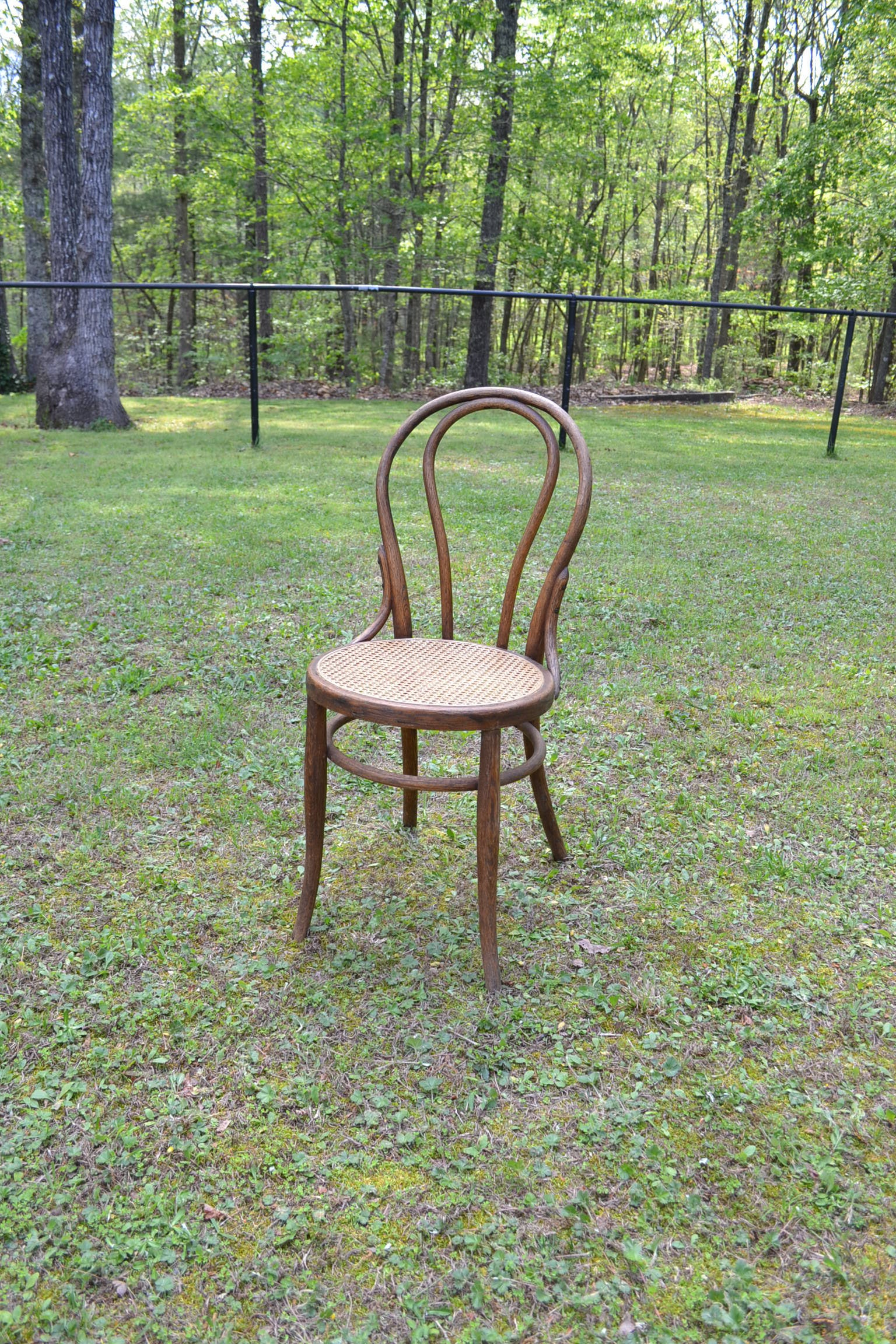 Reserved vintage thonet bentwood bistro chair cane seat - Cane bistro chairs ...