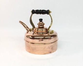 Simplex Solid Copper Patent Tea Kettle, Copper Tea Kettle, Copper Tea Pot, Made in England, Whistling Tea Kettle, Vintage Tea kettle
