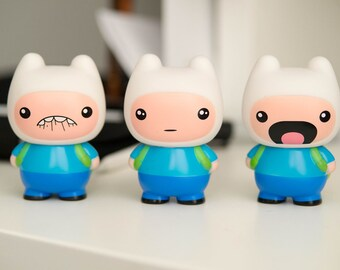 Adventure Time Finn the Human Vinyl Toy Three Pack!