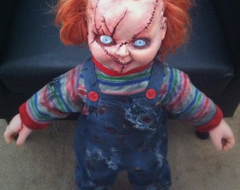 TALKING Life-Size CHUCKY Doll Charles Lee Ray Replica Child's Play Horror Prop